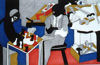 Jacob Lawrence - Two Builders Playing Chess