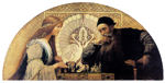 MATSCH Franz von - Leonardo da Vinci playing chess with his muse