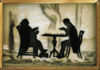 Silhouette of chess game