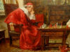 Bennett, Frank Moss - chess game with a Cardinal and Abbot