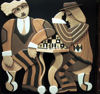 Alan Boileau - Two men playing chess